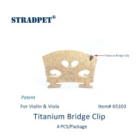 STRADPET Titanium Bridge Clip for Violin and Viola